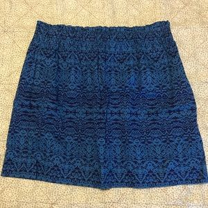 Joe Fresh blue/navy skirt, women's medium